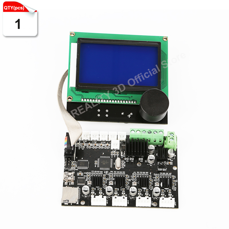 CREALITY 3D Printer Parts 12864 LCD Display +Control Motherboard Mainboard For CREALITY CR-10 3D Printer 1 pcs ramps1 4 lcd 12864 control panel 3d printer smart controller lcd display free shipping drop shipping l101