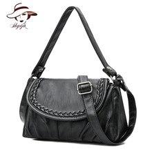 New 2018 Famous Brand Fashion Genuine Leather Women Bag Vintage Sheepskin Shoulder Bags Female Handbag Crossbody Tote Clutch