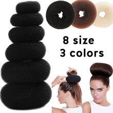 Приспособление для укладки волос в пучок, инструмент для укладки волос с большим кольцом в виде пончика, аксессуары для волос для женщин