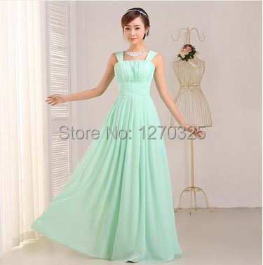 Vestido madrinha2018 new chiffon aLine mint green   bridesmaid     dress   long cheap sukienka na wesele dla kobiety
