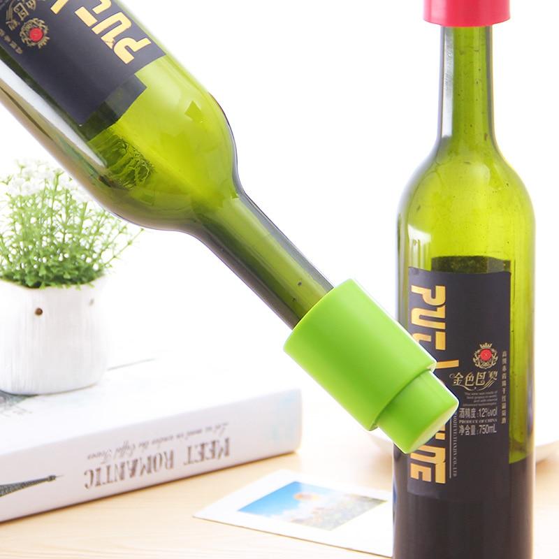 Silikonové vakuové utěsněné víno Šampaňské láhev Zátka víno likér Zátky Opakovaně použitelné nástroje pro uchycení zátkové tyče
