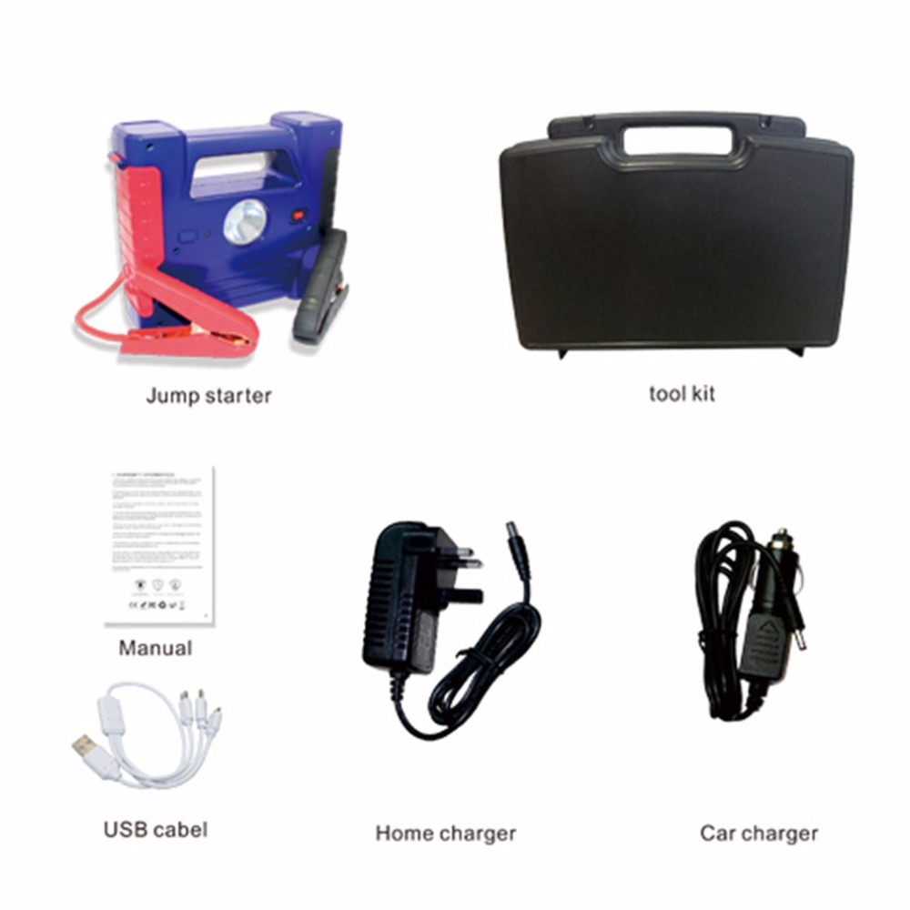 Multi-Function 30000mAh Jump Starter Portable Size Emergency Start Battery Charger Engine Booster Power Bank for Car 2018 car jump starter 16000mah high power bank portable car charger multi function start jumper emergency auto battery booster