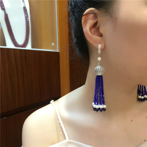 Image 5 - Hot sell European American styles natural color faced stone micro inlay zircon accessories earrings fashion jewelry