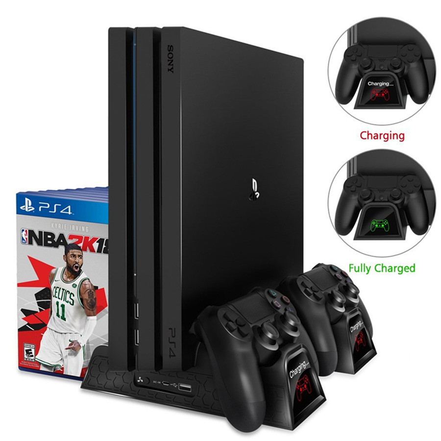 Ladegerät PS4/PS4 Dünne/PS4 Pro Dual Controller Ladegerät Konsole Vertikale Cooling Stand Ladestation Dock Für SONY playstation 4