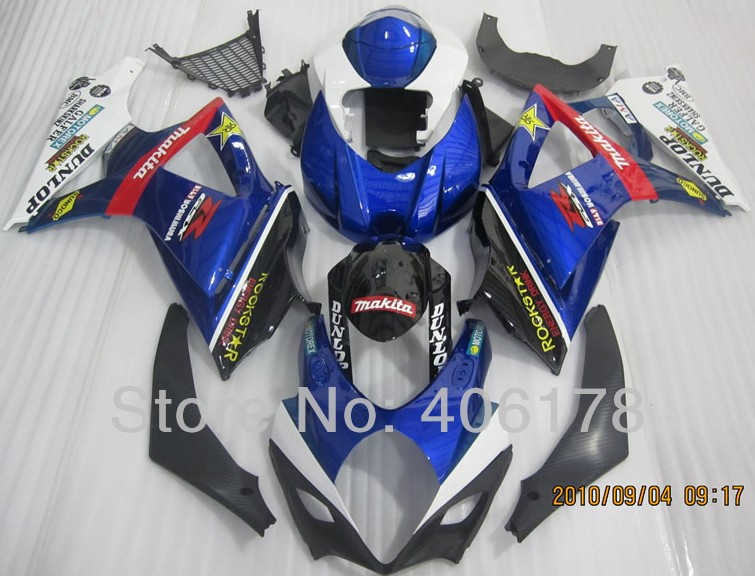 Hot Sales,K7 GSXR1000 07/08 Fairing Kit For Suzuki GSX-R1000 2007/2008 ROCKSTAR Road Motorcycle Body Kit (Injection molding)