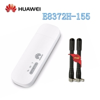 Unlocked Huawei E8372h 155 USB WiFi Modem 4G 150Mbps LTE FDD Band 1/3/5/7/8/20 TDD Band 38/40/41 3G Mobile USB Dongle+ Antenna