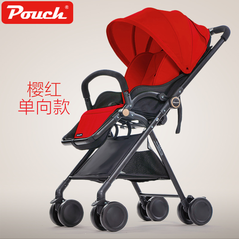 European Baby stroller  high-profile carriage one-way push can be lying and sit baby stroller high profile luxury baby stroller can sit can lying baby carriage hand can adjustable trolley war ax wheel umbrella car