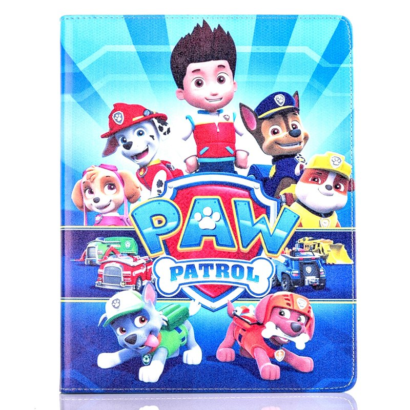 Tablet Case for Apple ipad mini 4 fashional PAW PATROL prints PU leather protective Cover stand shell coque para capa