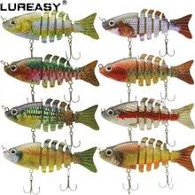 LUREASY рыболовная приманка 24 шт./1 набор 8,5 см 11 г реалистичные 3D Глаза рыболовные аксессуары приманки 6 сегментов Swimlure твердая приманка