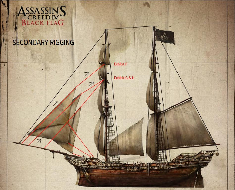 Assassin's Creed 4 Cold-time Ship Game 3-d Paper Model DIY Manual Paper Mold