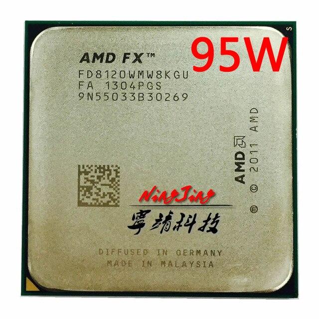 Amd fx series fx 8120 fx8120 FX 8120 3.1 ghz 95 w processador cpu de oito núcleos fd8120wmw8kgu soquete am3 +