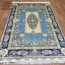 Yilong 5'x8 orienal chino anudadas a mano alfombras de seda fina hecha a mano de alfombras orientales de seda (S80A5x8)
