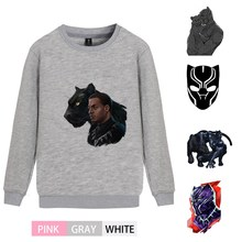 Marvel Superhero Black Panther Fleecy O-NECK Cotton Sweatshirts Teen Winter Unisex Jumper A193291