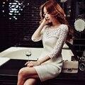 Original 2017 Brand Vestidos Robe Spring Plus Size Three Quarter Sleeve Slim Elegant Casual White Dresses Women Wholesale