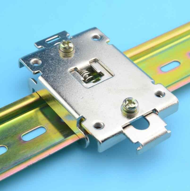 Pince à clip de relais à semi-conducteurs fixe à rail DIN SSR 35 MM monophasé avec 2 vis de montage
