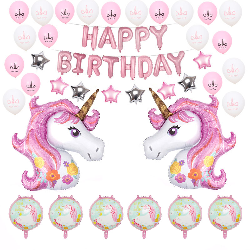 Unicorn Party Helium Balloons Baby Shower Party Supplies Rainbow Balloons Wedding Decoration Birthday Party Decoration Kids