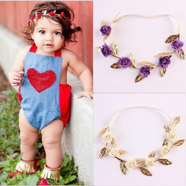 4 color baby headband newborn toddle baby kids girls cute rose flower accessories sweet baby girl - Sweet Baby Girl