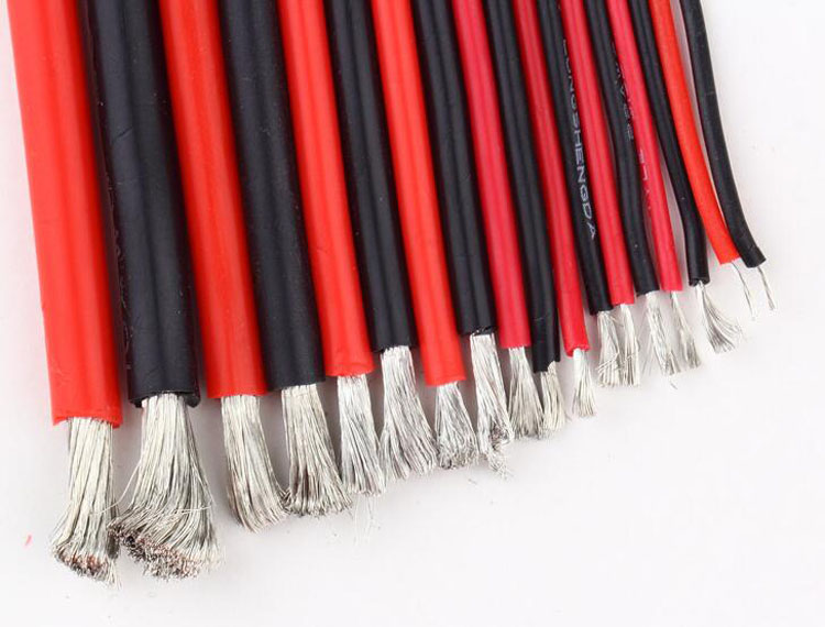 Yuenhoang 5 Meter 8AWG 10AWG 12AWG 14AWG 16AWG 18AWG 20AWG 22AWG Silicone Line Wire Electrical Cable Ultra-soft Silica Gel