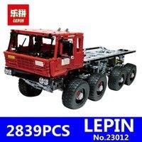 Лепин 23012 2839 шт. натуральная дизайн серии Аракава Moc эвакуатор Tatra 813 развивающие строительные блоки кирпичи игрушки подарки
