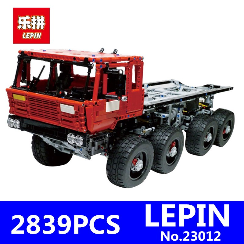 Lepin 23012 2839Pcs Genuine Technic Series The Arakawa Moc Tow Truck Tatra 813 Educational Building Blocks Bricks Toys Gifts lepin 20076 technic series the mack big