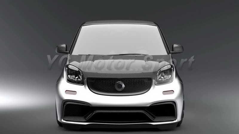 car accessories frp fiber glass bodykits fit for 2015 2017 smart fortwo c453 forfour w453 amg. Black Bedroom Furniture Sets. Home Design Ideas