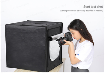 photo box 50cm*50cm remote control Dimmable Studio softbox Table Photography Shooting Tent with light modulator lightbox D05  3Y