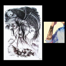 1pc Tattoo Gift Death Sickle Skull Waterproof Tattoo Design HB222 Temporary Tattoo Women Men Body Arm Back Art Sticker Removable