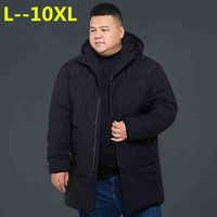 Plus size 10XL 8XL 6XL 4XL men winter jacket brand clothing thick warm long parka men quality male winter coat Big large size