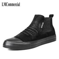 New Winter Men Leather Boots Martin Sets Foot High Shoes Ew Autumn Winter British Retro Men