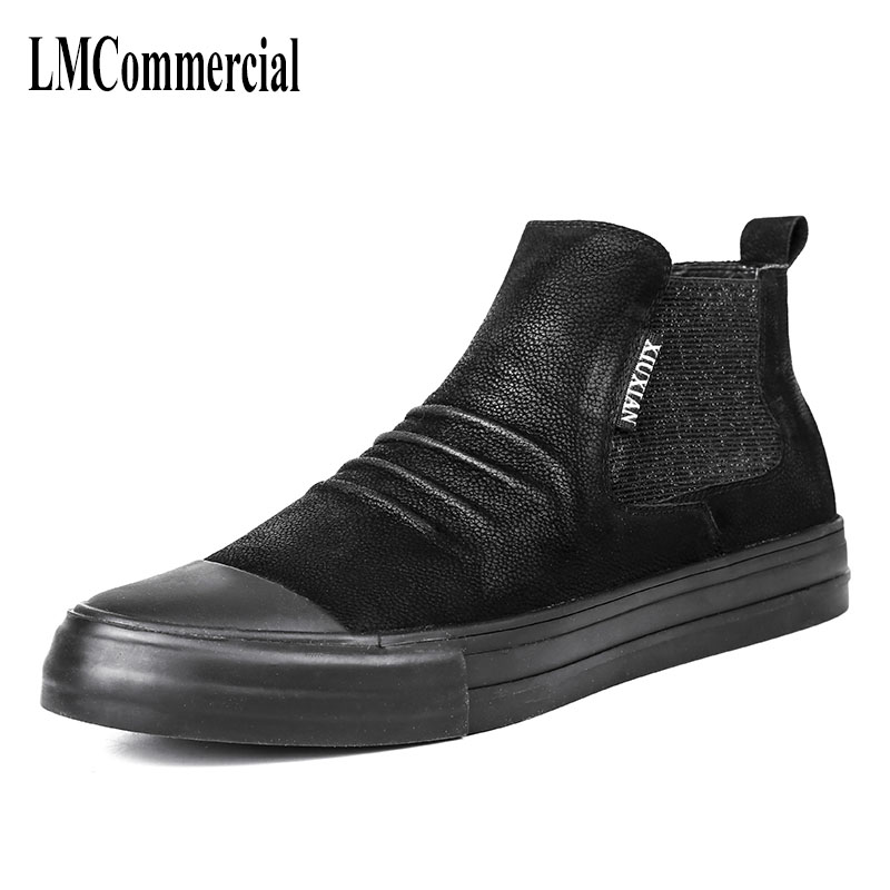 new winter men leather boots. Martin sets foot high shoes ew autumn winter British retro men shoes breathable casual boots cowhi 2017 new autumn winter british retro men shoes zipper leather shoes breathable fashion boots men casual shoes handmade f