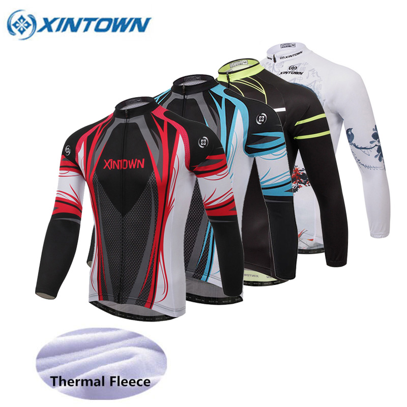 Cycling Jersey Clothing Long-Sleeve Fleece Ciclismo Maillot Winter MTB Men Bicicleta