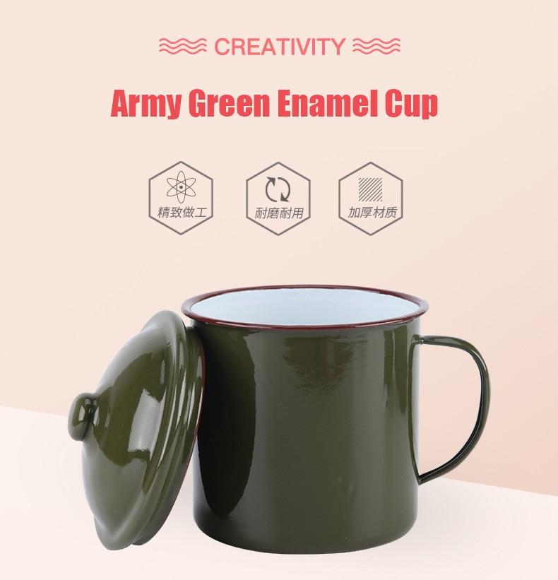 No Extra UK Affranchissement sur Multi Acheter * Armée Style Émail Tasse//Mug bleu vert noir