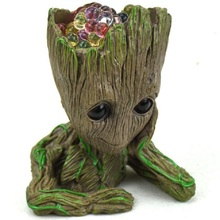 Disney Baby Groot Flowerpot Flower  Planter Action Figures Tree Man Cute Model Toy Pen Pot Garden Pot Galaxy Guard Decoration marvel galaxy guard 2 groot small tree baby bluetooth audio s box model hand office w07