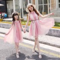 Matching Mother Daughter beach Clothes Family Look Matching Mom and Daughter Dress Parent-child Outfit Ma e Filha Maxi Dress