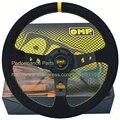 Hot :Suede Leather Racing Car Steering Wheel 350mm OMP Steering Wheel