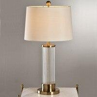 YOOK 36*68 см Современный американский Стекло настольная лампа Гостиная Спальня прикроватной тумбочке дом настольная лампа 38*75 см мода Настоль
