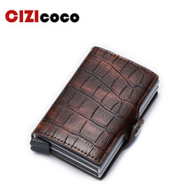 New Card Holder RFID Blocking Aluminium Business ID Credit Card holder Men Slim Double Case Wallet Purse цены
