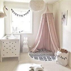 Москитная сетка навес для кроватки Украшения кровать сарай девочек Room Decor Детские Nordic Стиль ребенок небесно-серый кровать дети 20%