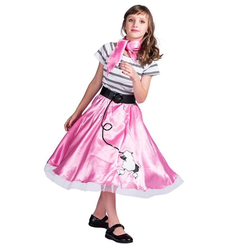 Hip Hop 50s Shop Girls Poodle Dress Outfit Halloween/Dance Costume Set