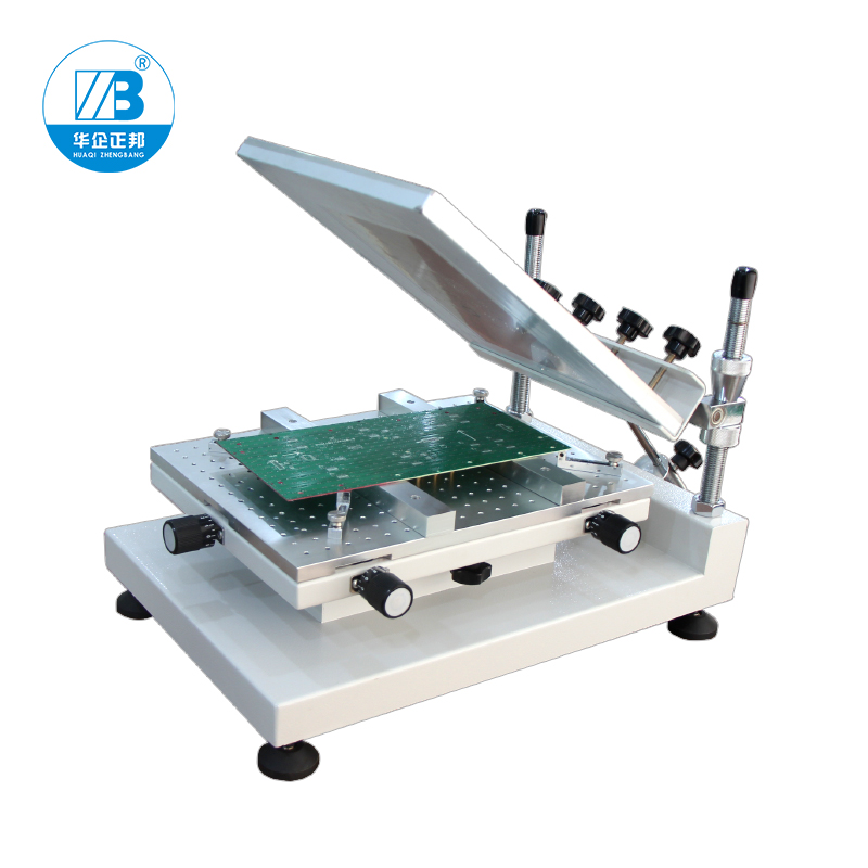 Smt Manual Solder Paste Printer / Best Precision Screen Stencil Printer