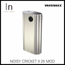 100% Original Wismec Noisy Cricket II-25 Box Mod Powered by Dual 18650 Cells Alternative Operating Mode Vape II 25 e-cigarettes