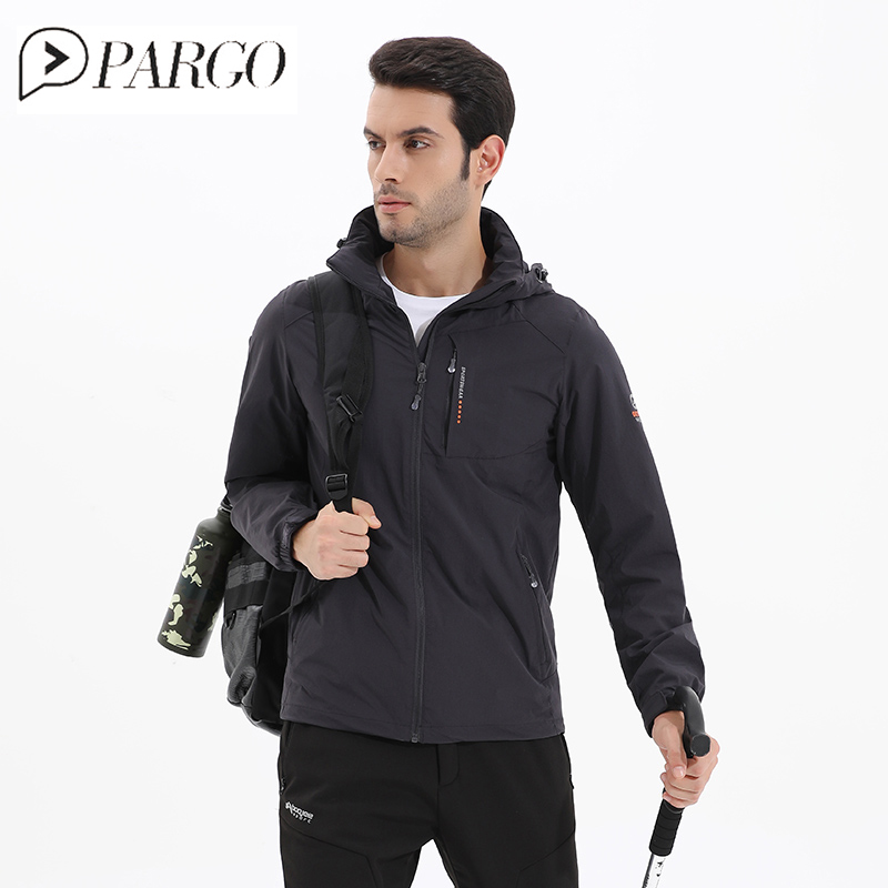 PARGO Waterproof Jacket Mens Hiking Camping Jacket Male Hunting Mountaineering Jacket Men Windproof Outdoor Hooded Coat Big Size цена и фото