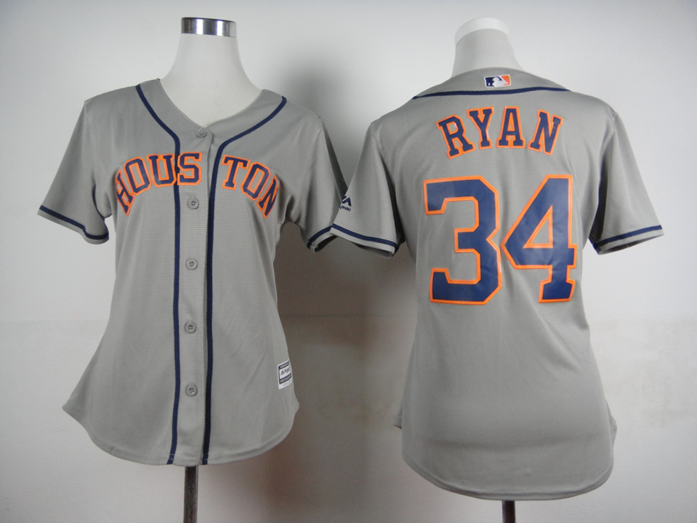 separation shoes 28dfd cb1d1 Houston Astros Jerseys,Houston Astros 34 Nolan Ryan Women's ...