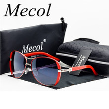 Mecol 2016 Oculos High Quality Sunglasses Women Glasses Vintage with Box Sunglasses Women Brand Designer ladies sun glasses M071