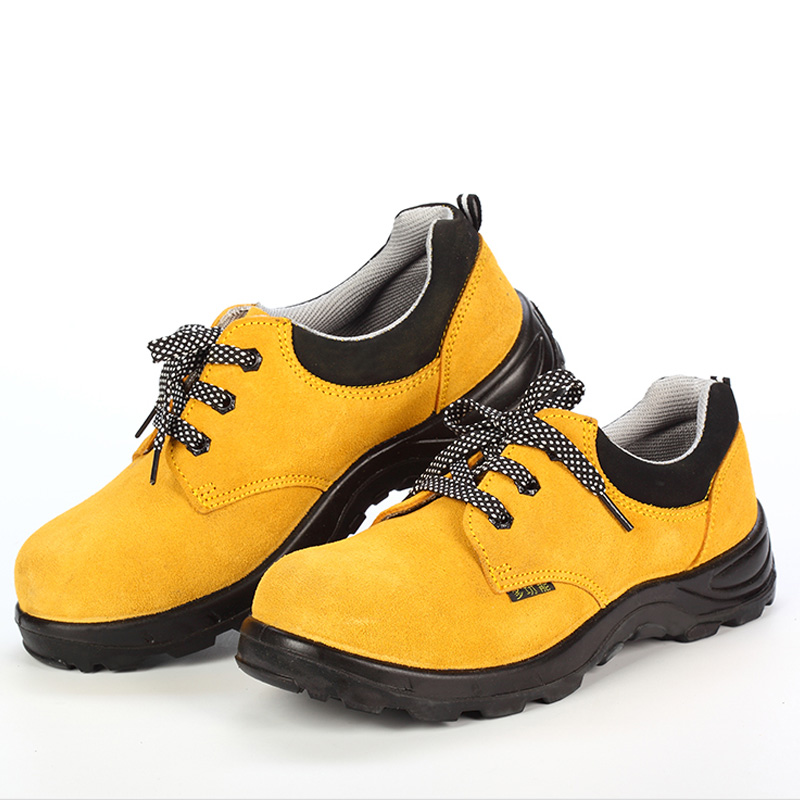 US $73 8 |Men Women Safety Shoes Steel Toe Work Non Slip High Temperature  Resistant Puncture Proof Leather Polyurethane Rubber Sole-in Safety Shoe