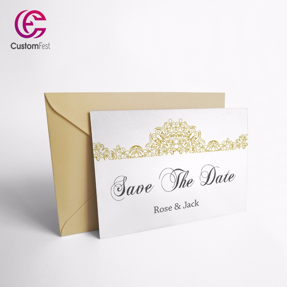 ᗑ 50pcs Lot Personalized Thank You Card Or Save The Date Card With