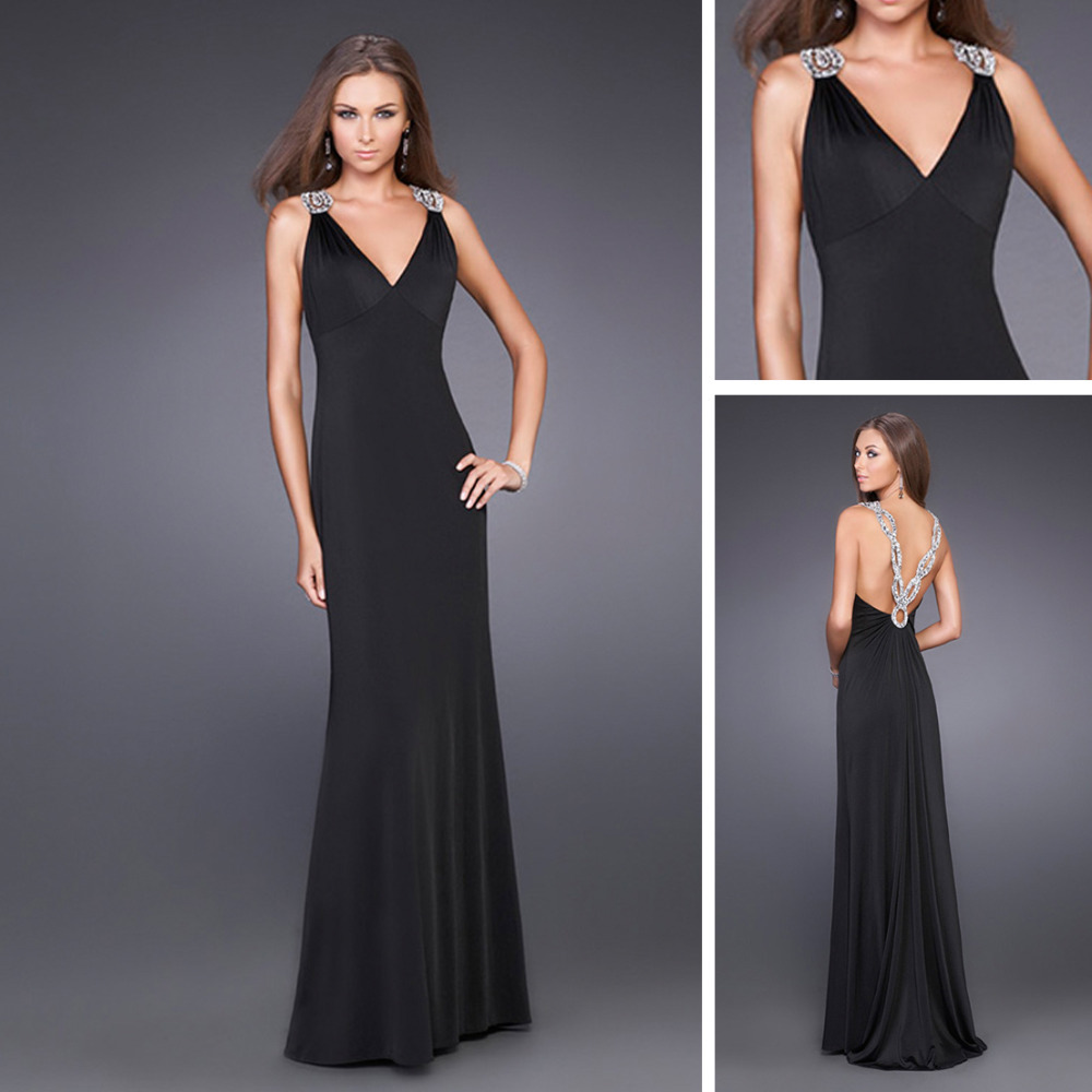 EK167 2013 V Neck High Class Dresses Evening Long Night Dress Sexy ...