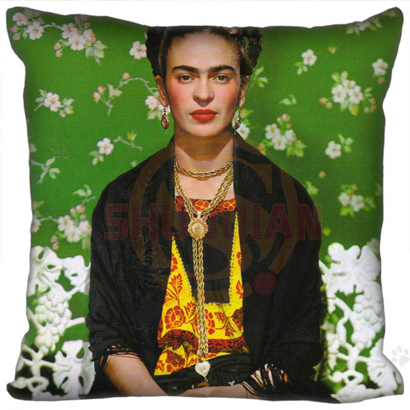 ᐃVente chaude New Custom Frida Kahlo Coloré Frida Carré Taies D ... 6c8aadec5c59