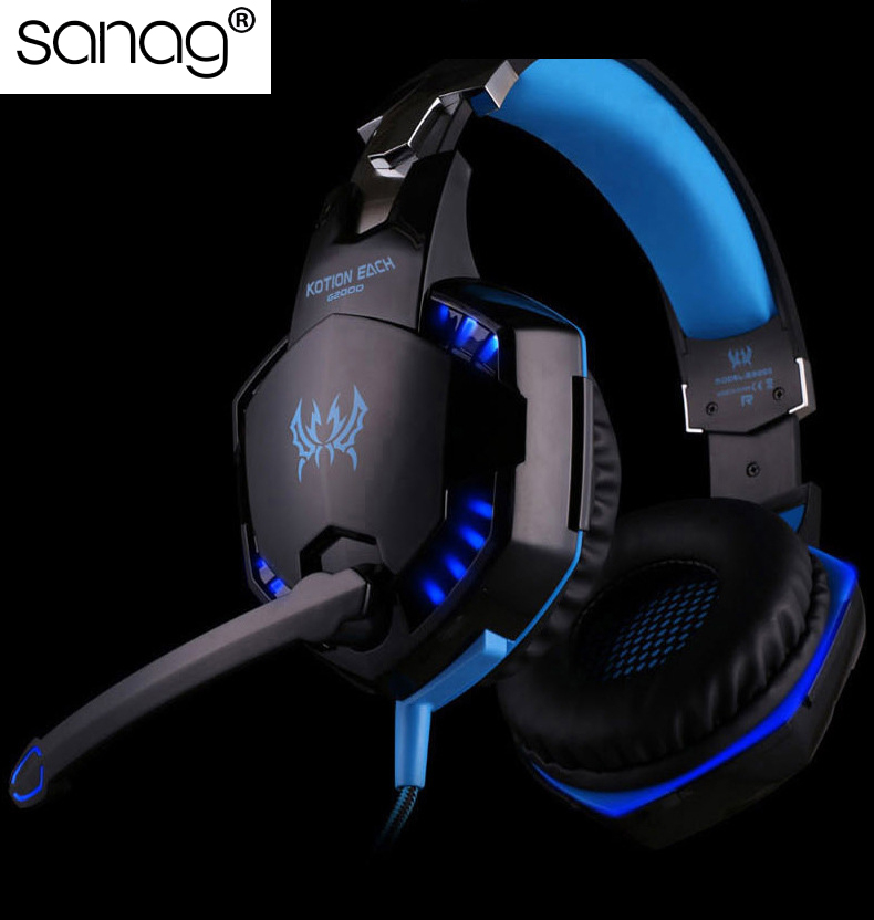 GS2 Professional Stereo Gaming Headset for PS4, Xbox One Headphones with Mic and LED Lights for Playstation 4, Xbox One, PC teamyo n2 computer stereo gaming headphones earphones for mobile phone ps4 xbox pc gamer headphone with mic headset earbuds