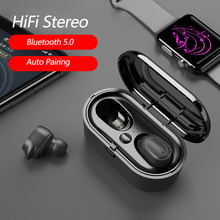 IPX5 Bluetooth Earphone Noise Canceling Headset TWS Wireless Headphones Waterproof 5.0 Earbuds